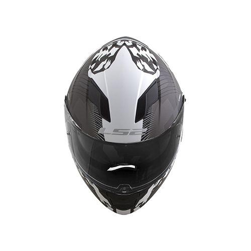 Capacete Ls2 Ff320 Stream Hype Preto Fosco E Branco Full  - Ditesta & Daihead - Moto Store