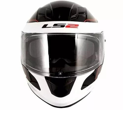 Capacete Ls2 Ff320 Stream Lunar Preto/branco   - Ditesta & Daihead - Moto Store
