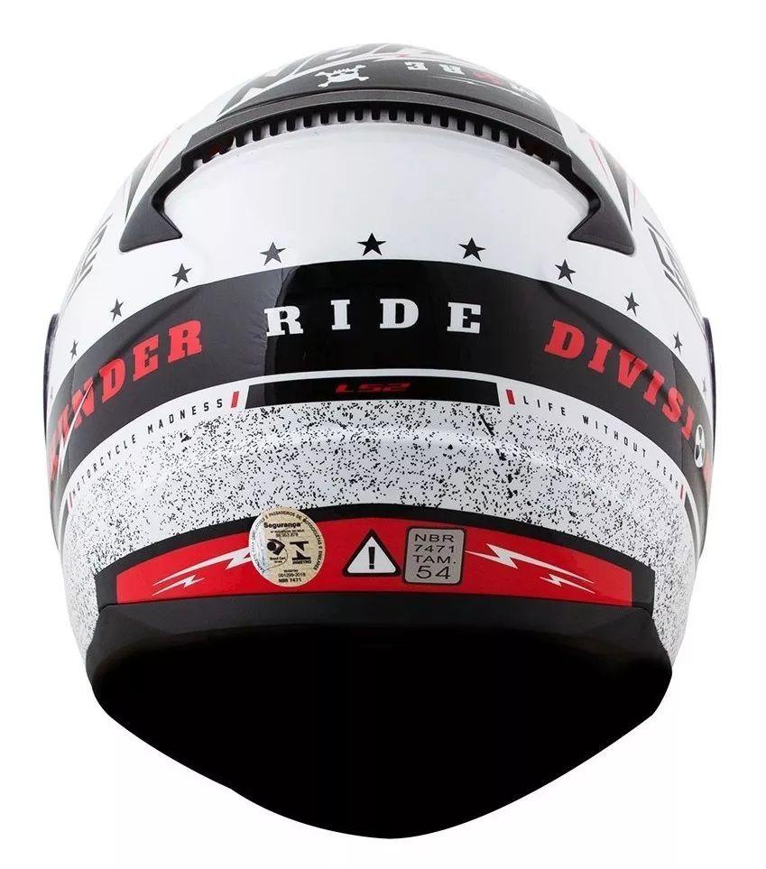 Capacete Ls2 Ff353 Rapid Thunder Vermelho  - Ditesta & Daihead - Moto Store