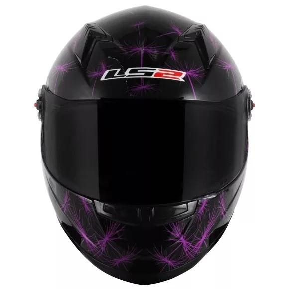Capacete Ls2 Ff358 Breeze Preto/roxo  - Ditesta & Daihead - Moto Store