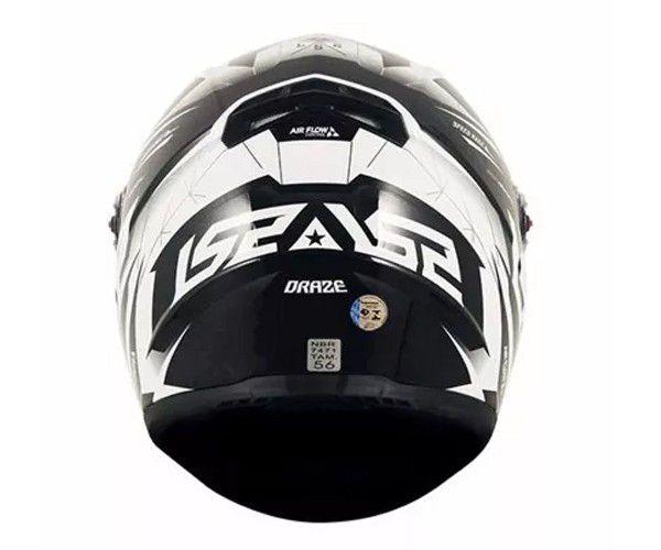 Capacete Ls2 Ff358 Draze Black / White  - Ditesta & Daihead - Moto Store