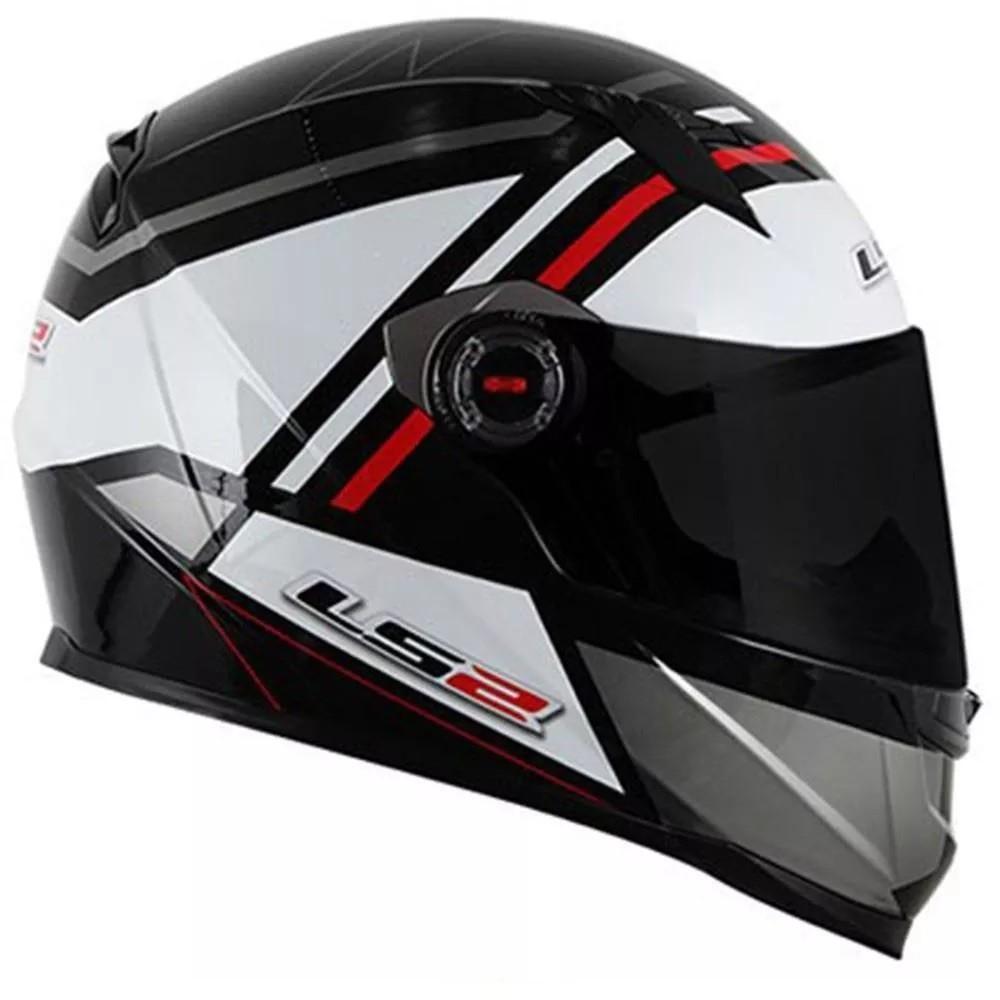 Capacete Ls2 Ff358 Mohican Branco Cinza Preto  - Ditesta & Daihead - Moto Store