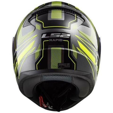 Capacete Ls2 Rapid Ff353 Carrera - Black/hv Yellow  - Ditesta & Daihead - Moto Store