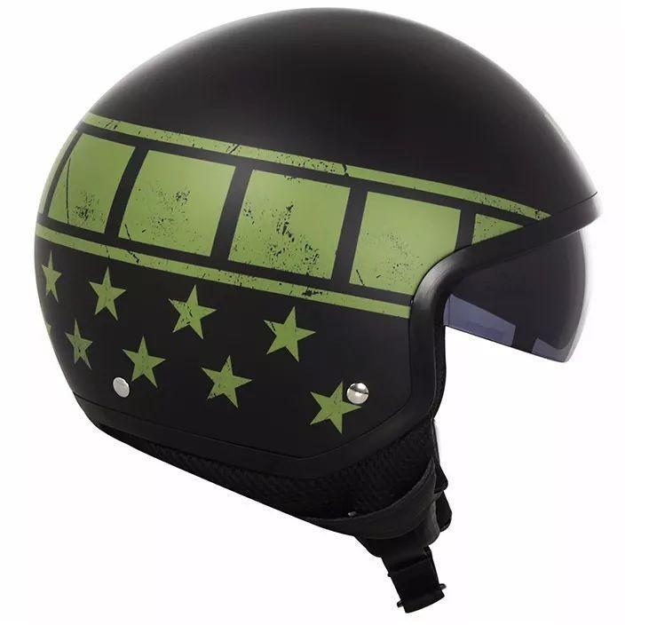 Capacete Ls2 Wave Kurt Black Green  - Ditesta & Daihead - Moto Store