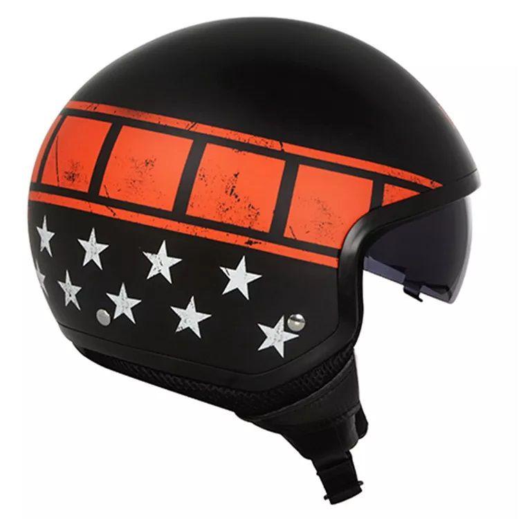 Capacete Ls2 Wave Kurt Black Orange   - Ditesta & Daihead - Moto Store