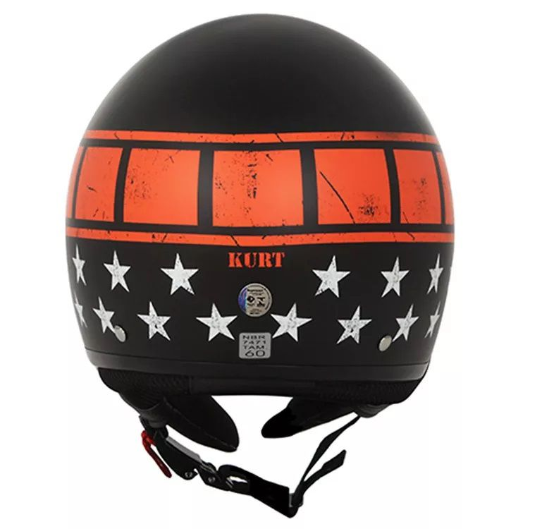 Capacete Ls2 Wave Kurt Black Orange   - Ditesta & Daihead - Moto Store