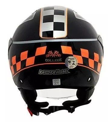 Capacete Norisk College Black / Orange  - Ditesta & Daihead - Moto Store