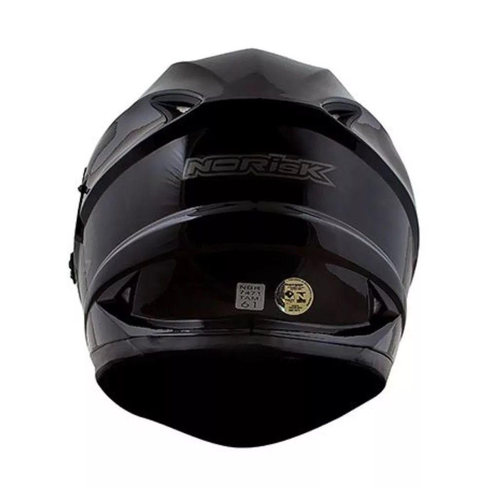 Capacete Norisk Fechado Com Oculos FF302 Monocollor Black  - Ditesta & Daihead - Moto Store