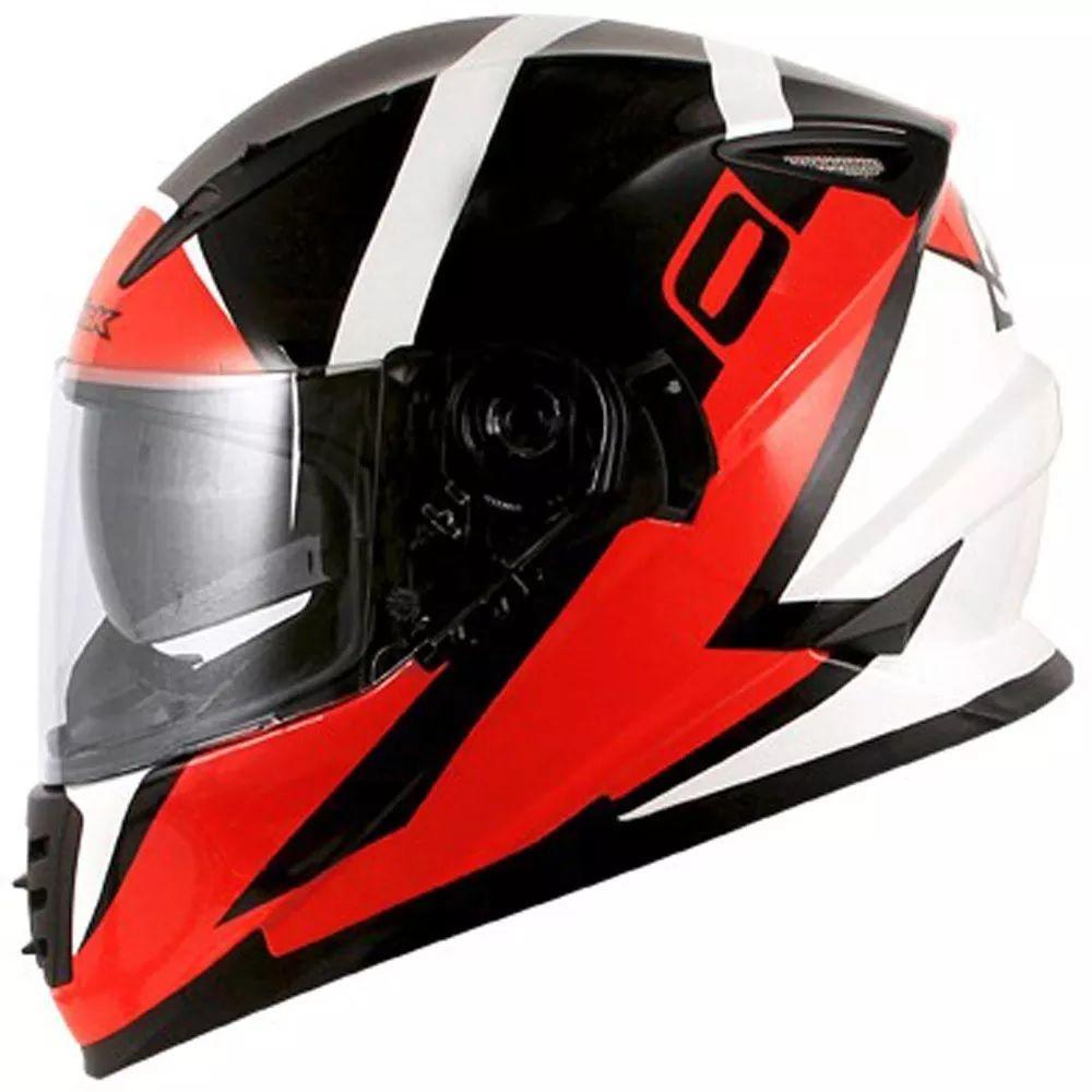 Capacete Norisk FF302 Ridic Black White e Red  - Ditesta & Daihead - Moto Store