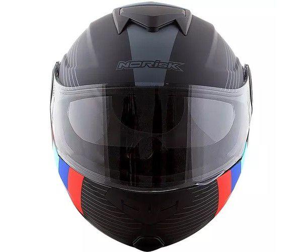 Capacete Norisk Ff345 Stroke Matt Black / Blue / Red  - Ditesta & Daihead - Moto Store