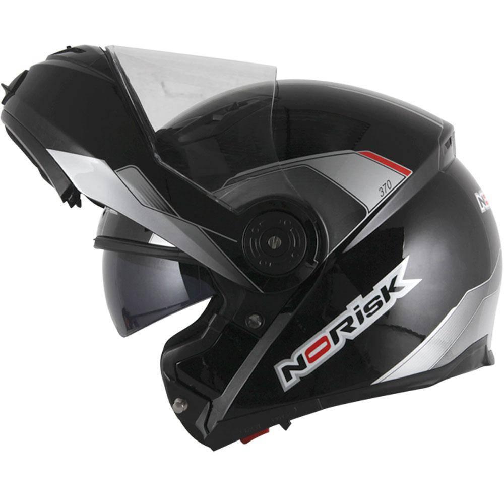 Capacete Norisk FF370 MIDNIGHT BLACK ( C/ Óculos / Articulado )  - Ditesta & Daihead - Moto Store
