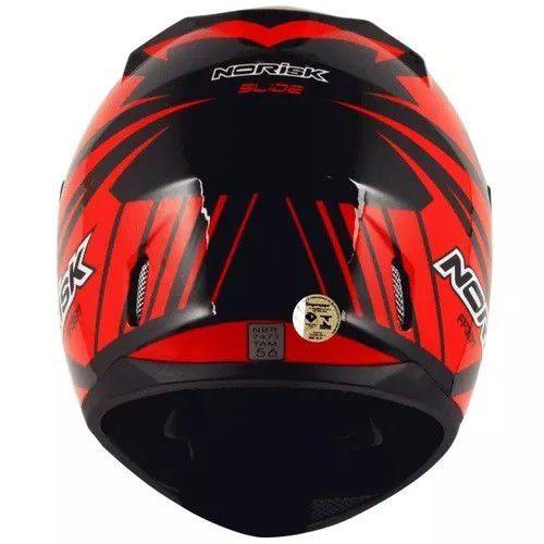 Capacete Norisk Ff391 Slide Preto/vermelho  - Ditesta & Daihead - Moto Store