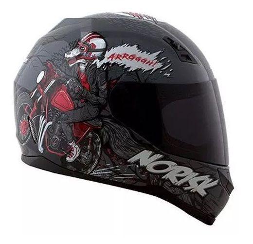 Capacete Norisk Ff391 Wolf - Cor Cinza/preto  - Ditesta & Daihead - Moto Store