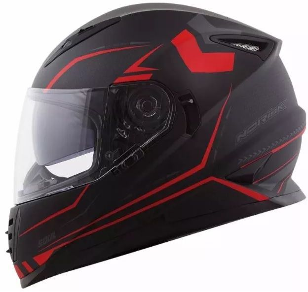 Capacete Norisk Ff 302 Target Preto e Vermelho  - Ditesta & Daihead - Moto Store