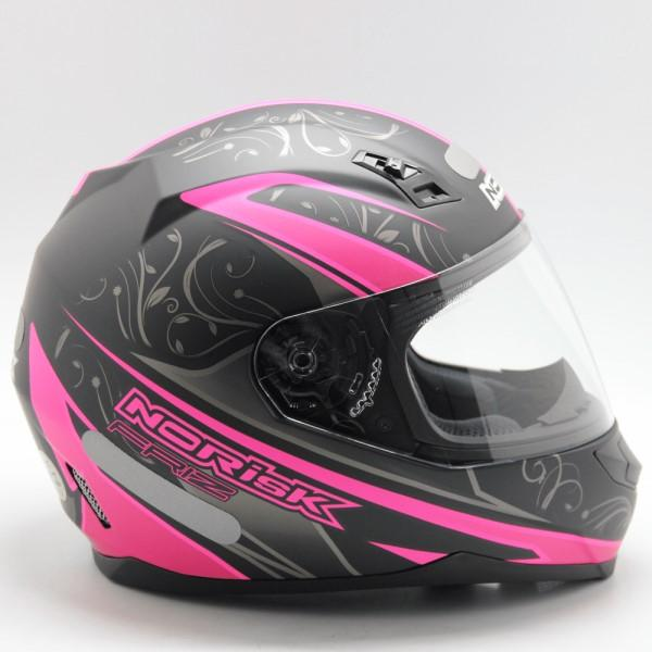 Capacete Norisk Ff 391 Preto e Rosa  - Ditesta & Daihead - Moto Store