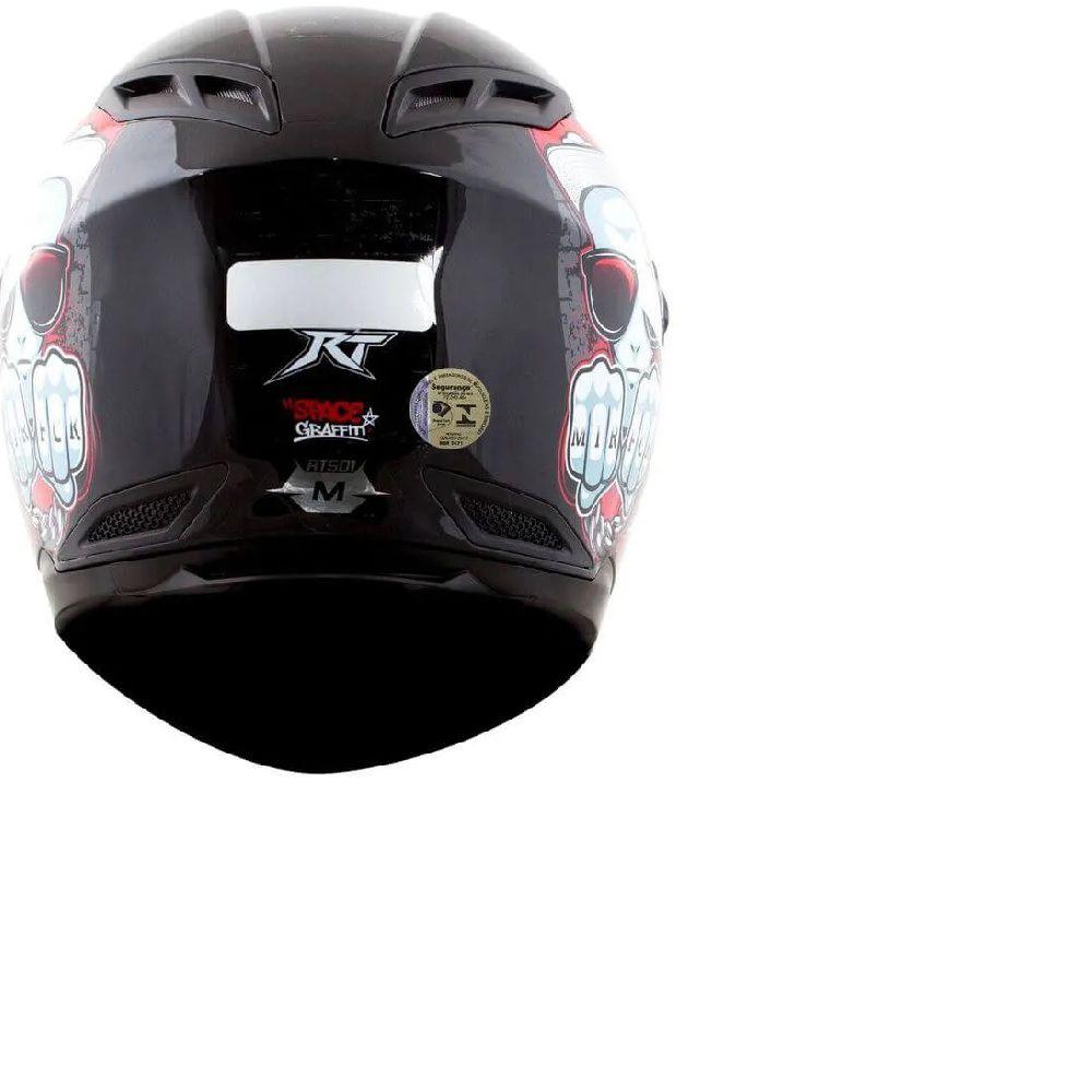 Capacete Race Tech Rt501 Evo Space Grafitti Preto/vermelho  - Ditesta & Daihead - Moto Store