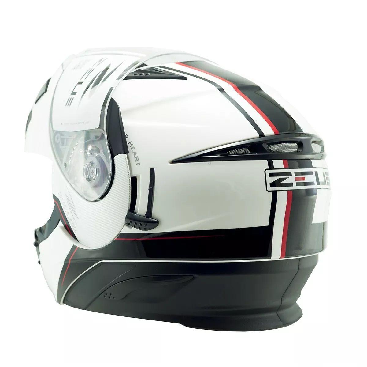 Capacete Zeus 3020 Ab11 Branco e Preto  - Ditesta & Daihead - Moto Store