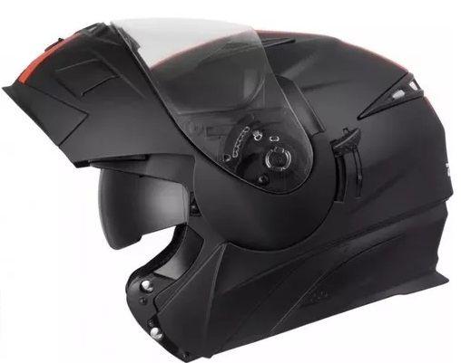 Capacete Zeus 3020 Preto Fosco Com Laranja  - Ditesta & Daihead - Moto Store