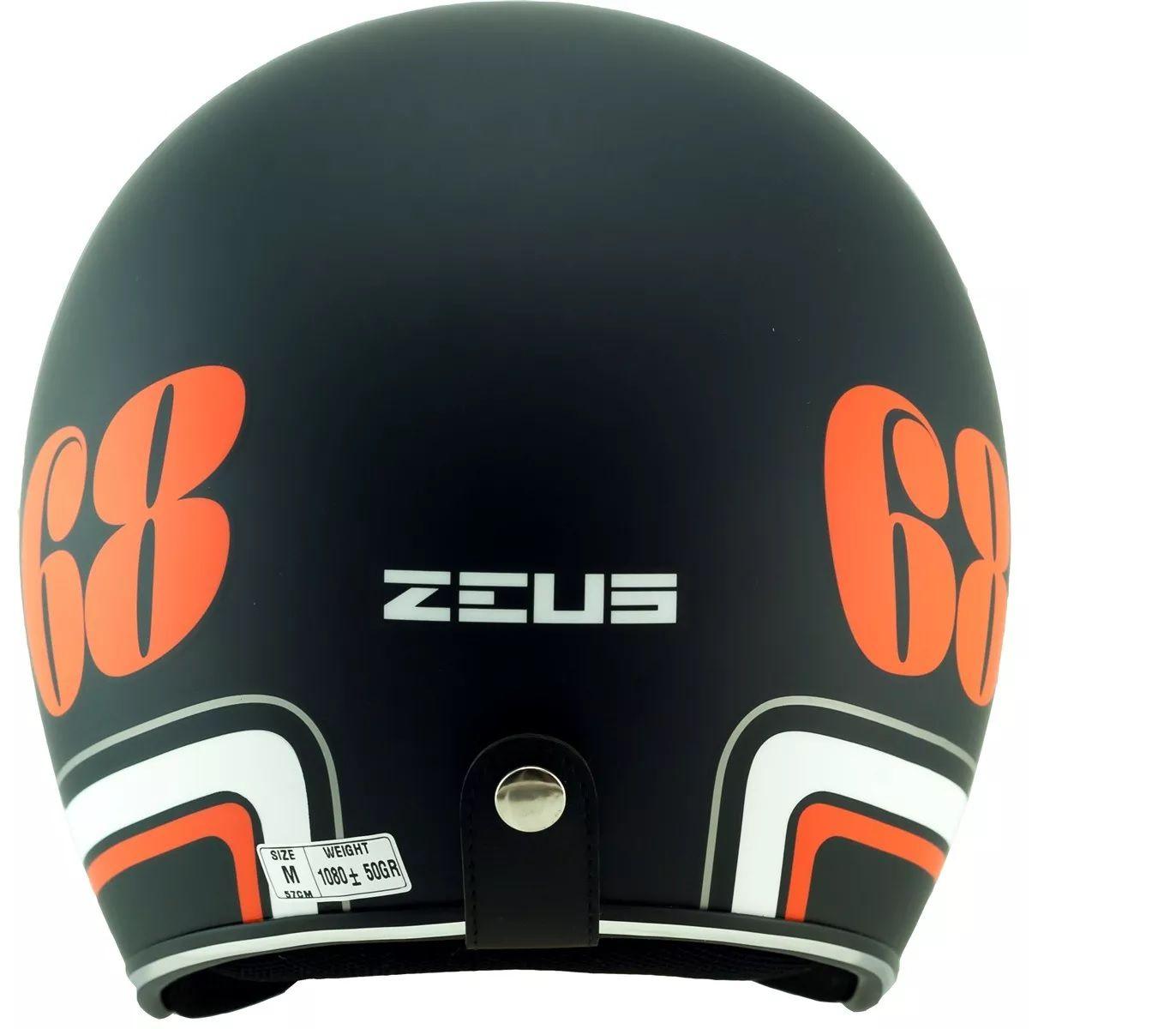 Capacete Zeus 380H Preto Fosco e Laranja  - Ditesta & Daihead - Moto Store