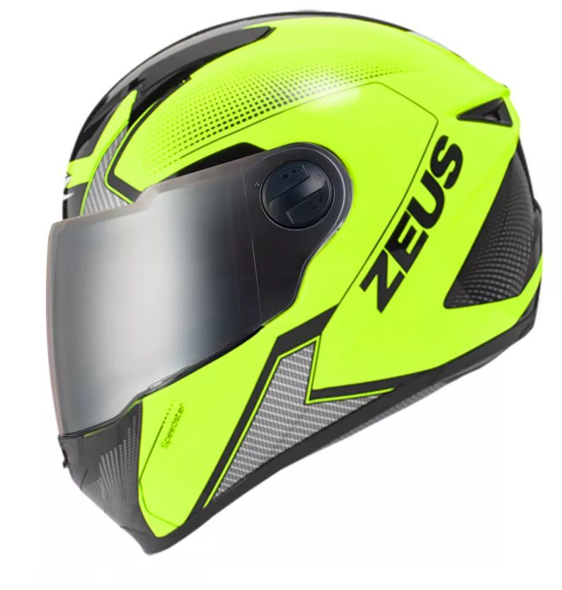 Capacete Zeus 811 Evo Speedster Fluor Amarelo Al6 Preto  - Ditesta & Daihead - Moto Store