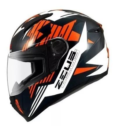 Capacete Zeus 811 Orange Black  - Ditesta & Daihead - Moto Store
