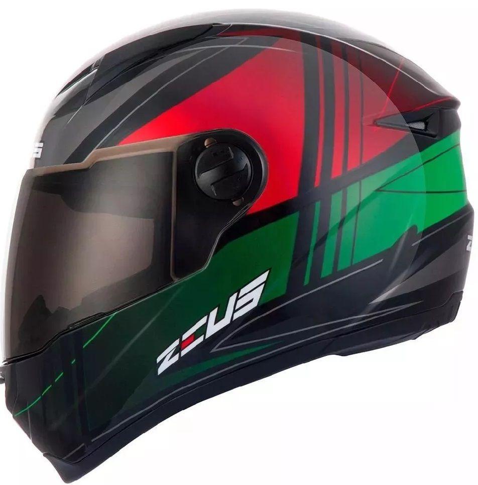Capacete Zeus 811 Solid Black/j20 Green