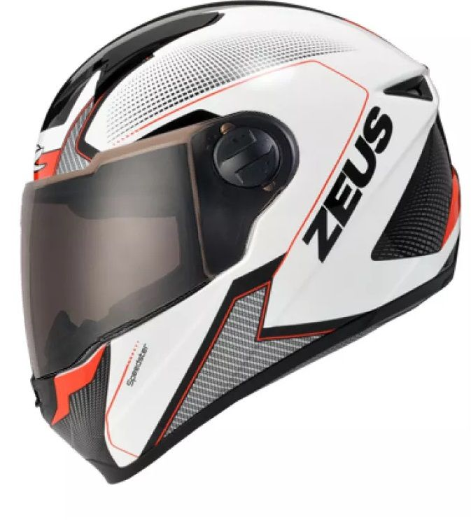 Capacete Zeus 811 Solid White Al6 Black Red  - Ditesta & Daihead - Moto Store