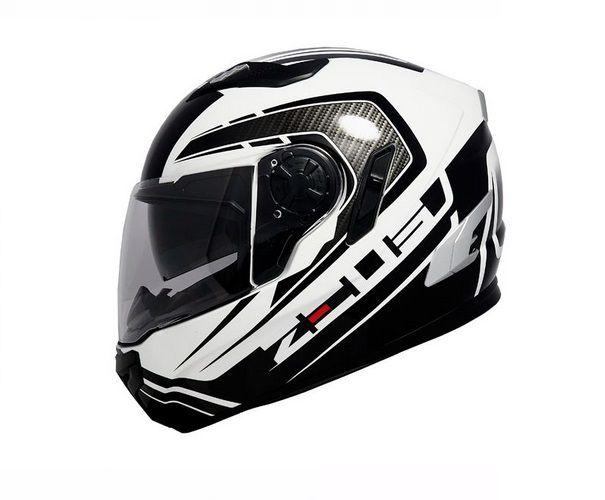 Capacete Zeus 813 An15 Preto e Branco C/ Óculos  - Ditesta & Daihead - Moto Store