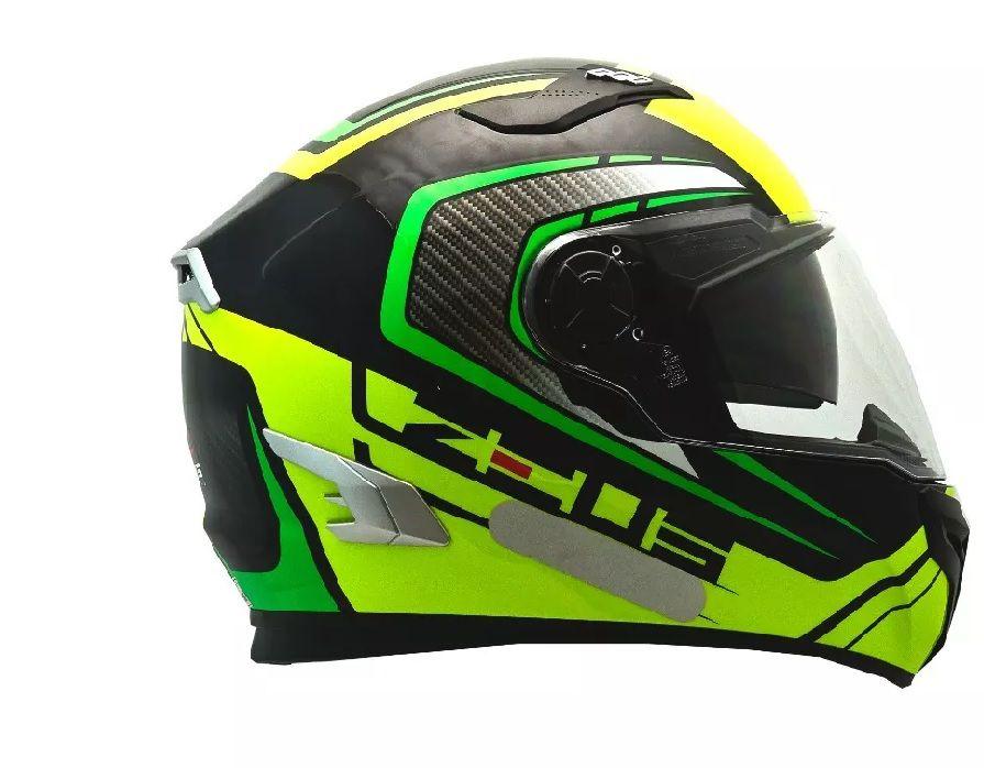 Capacete Zeus 813 An15 Preto/verde C/óculos Solar  - Ditesta & Daihead - Moto Store