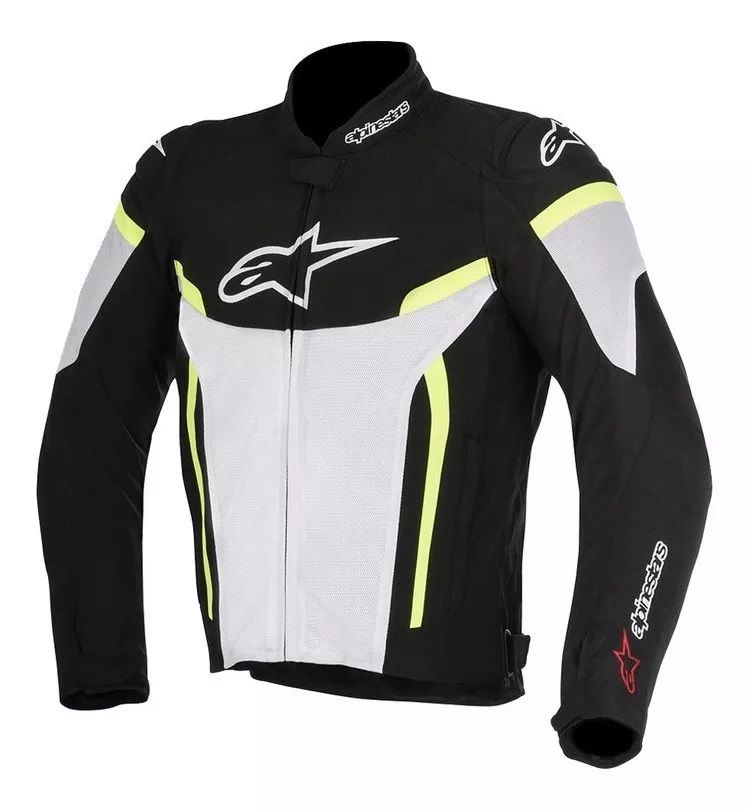 Jaqueta Alpinestars T-gp Plus R V2 Pto/bco/amarelo  - Ditesta & Daihead - Moto Store