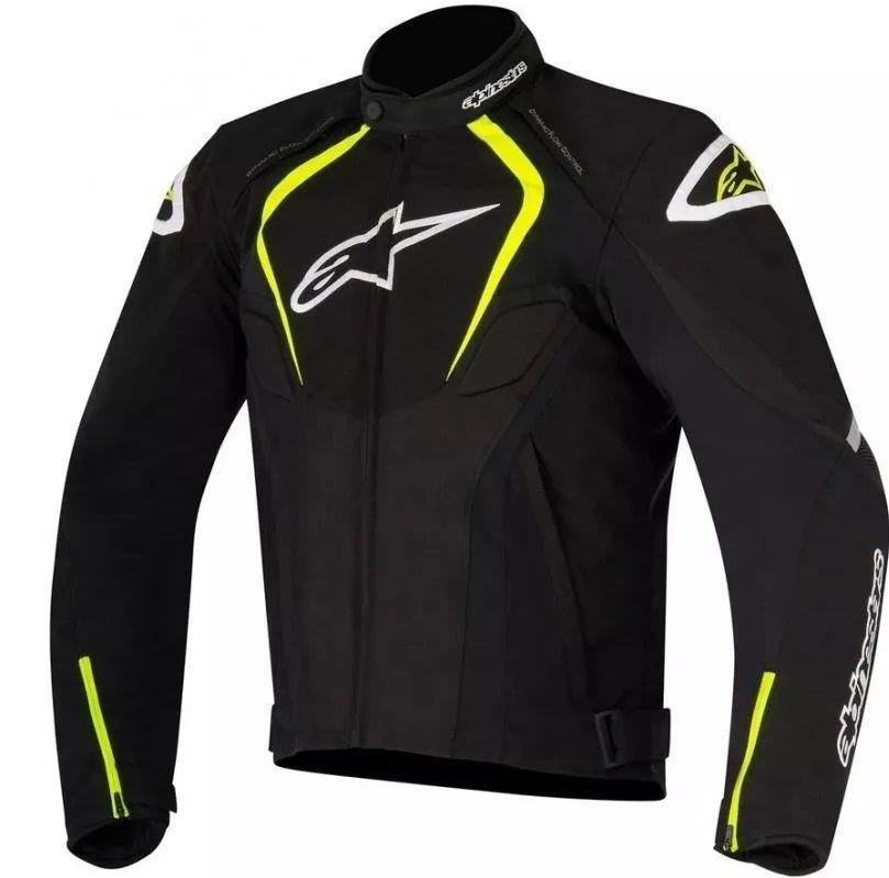 Jaqueta Alpinestars T-JAWS WP Preto Amarelo  - Ditesta & Daihead - Moto Store
