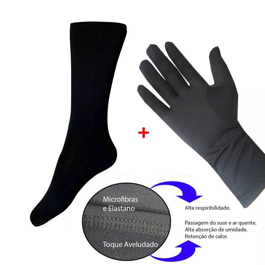Kit Meia e Luva Thermohead Extreme Cold   - Ditesta & Daihead - Moto Store