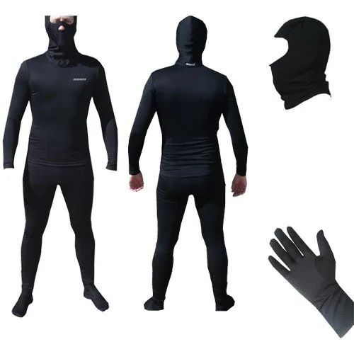 Kit  Segunda Pele Thermohead Extreme Cold ( Calça, Camisa, Balaclava e Luva) - Unissex