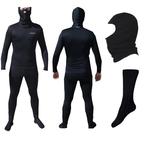 Kit  Segunda Pele Thermohead Extreme Cold ( Calça, Camisa, Meia e Balaclava) - Unissex