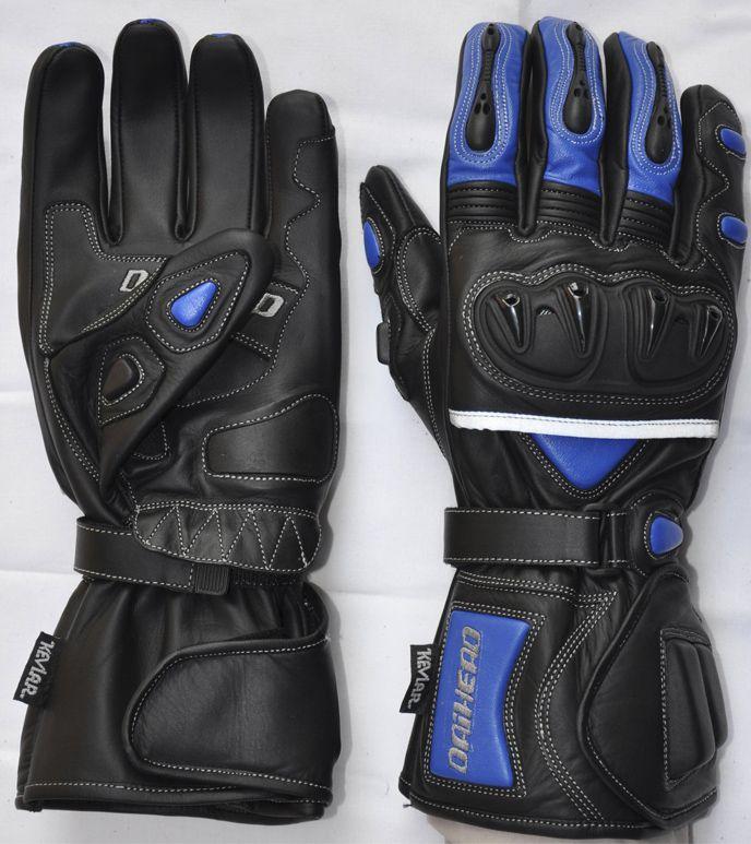 Luva De Couro Daihead Azul  - Ditesta & Daihead - Moto Store