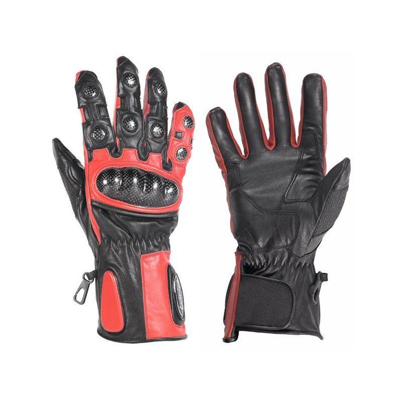 Luva de Couro Lumica L 138 Vermelha  - Ditesta & Daihead - Moto Store