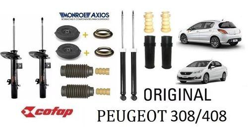 Amortecedor Dianteiro E Traseiro C/ Kit Peugeot 308 408 Tds Cofap