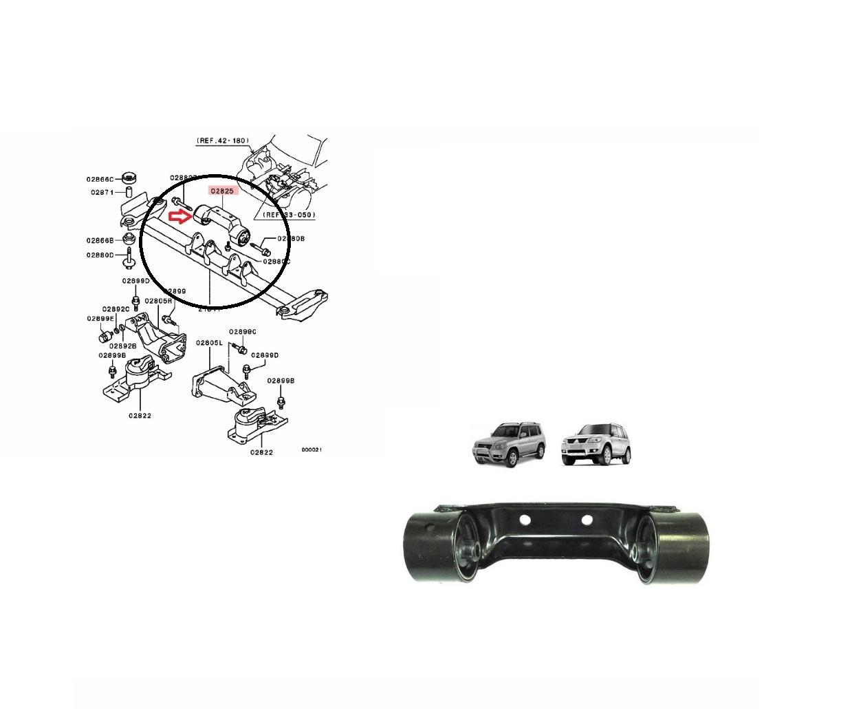 Coxim Cambio Mitsubishi Tr4 2.0 16v Automatica Completo