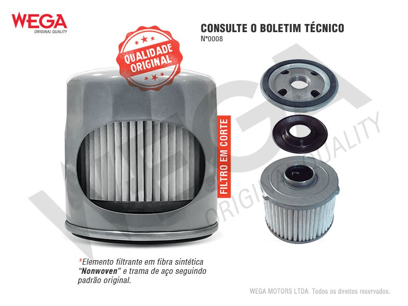 FILTRO OLEO VW UP TCROS VIRTUS POLO TIGUAN VOYAGE 3CIL