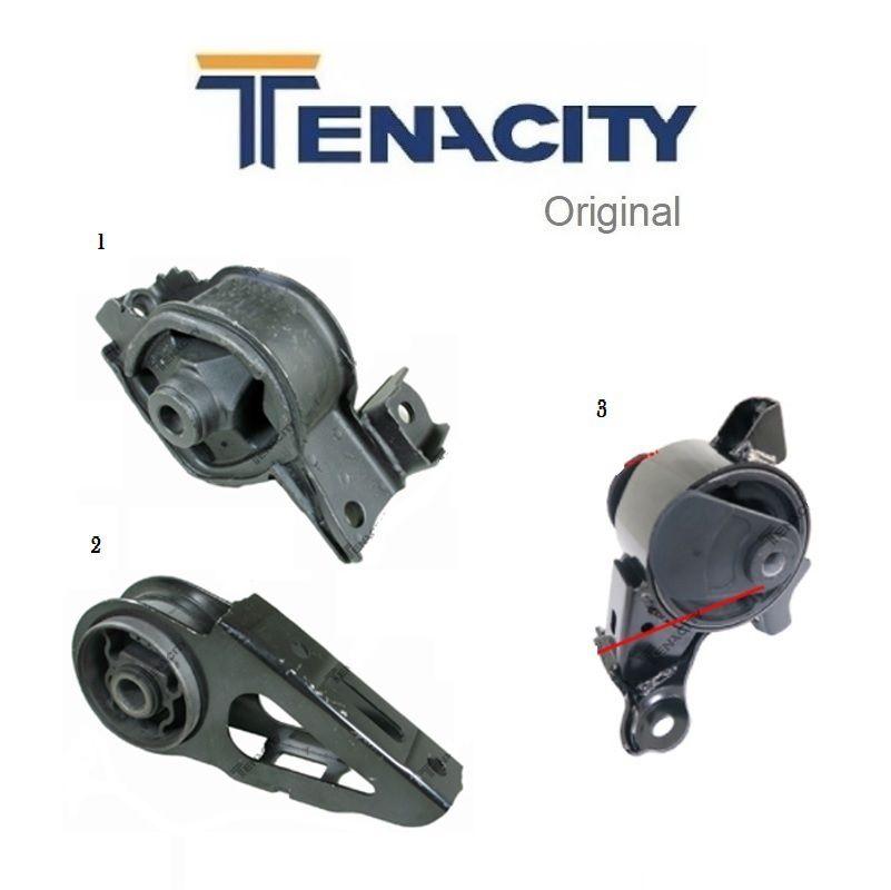 Jogo 3 Coxins Motor e Cambio Fit 2004 a 2008 Mecanico Tenacity