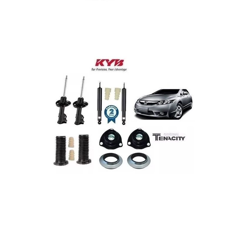 Jogo Amortecedor e Kit Batentes New Civic 2007/2011 Kayaba/Tenacity