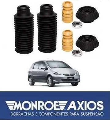 Kit Batente Amortecedor Dianteiro Completo Honda Fit 2004 a 2008 Axios