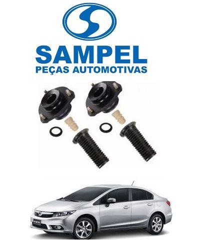 Kit Batentes Amortecedor Dianteiro Civic 9G 2013 a 2016 Par