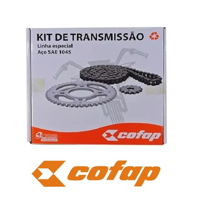 Kit relação Completo Cofap original Honda Nx Bros 125
