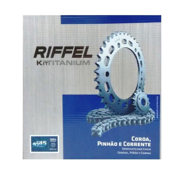 Kit relação Honda NX 4 FALCON 400 99/... Riffel (40D X 15D  520H X 106L)
