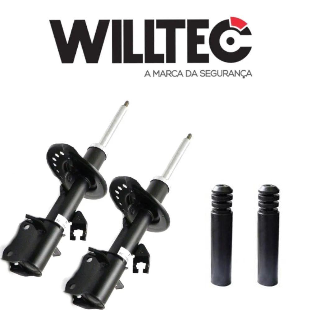 Par Amortecedor Dianteiro C/Kit Batentes Sentra 2013 a 2018 Willtec