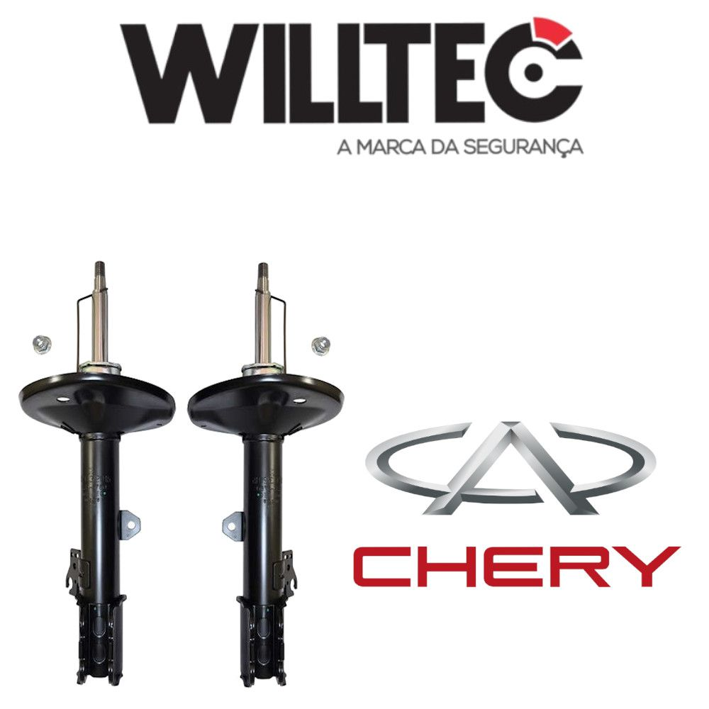 Par Amortecedores Dianteiros Chery Tiggo 4x2 2006 a 2011 Willtec