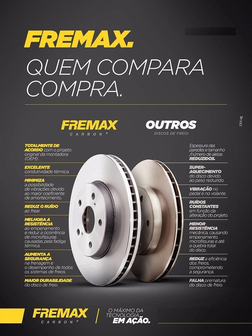 Par De Disco Freio Dianteiro  Hyundai Hb20 1.0 2013..Fremax