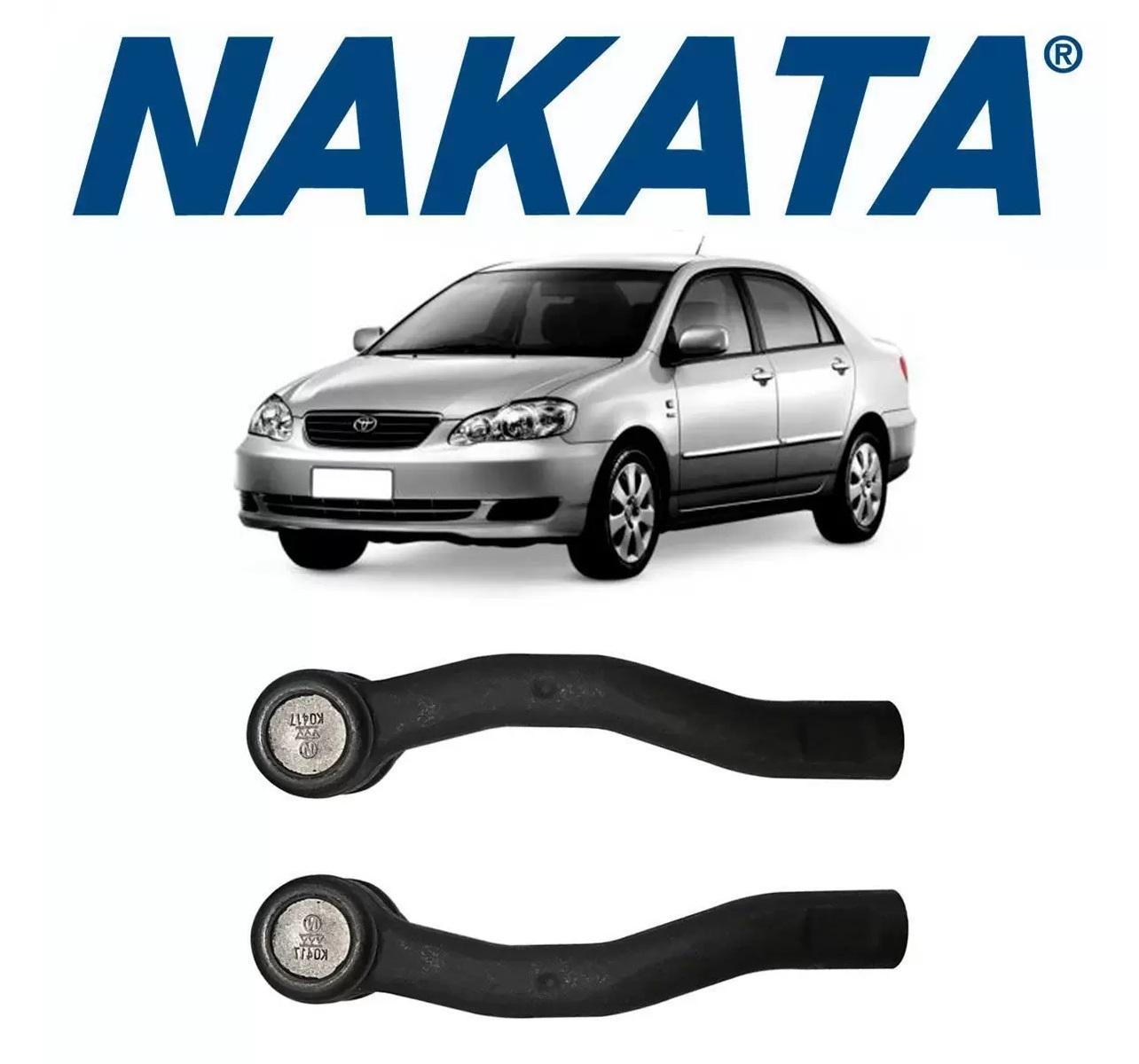 Par Terminal Direcao Toyota Corolla/Fielder  2003 a 2008 Nakata