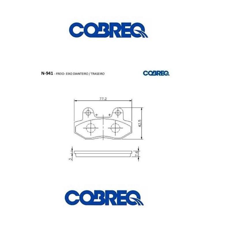 Pastilha Dianteira  Dafra Lazer 150 08/... Cobreq N941